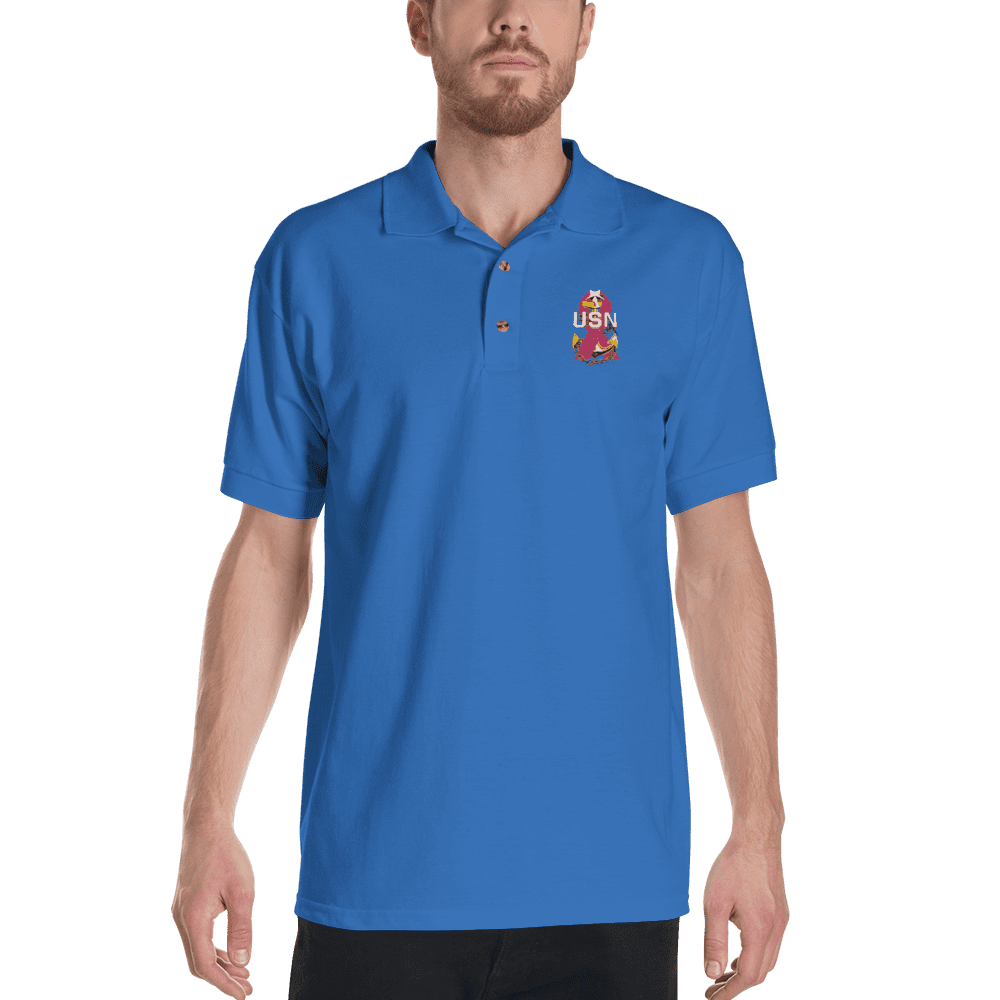 Navy Chief Polo Shirt Senior Chief Charity Embroidered Polo Shirt