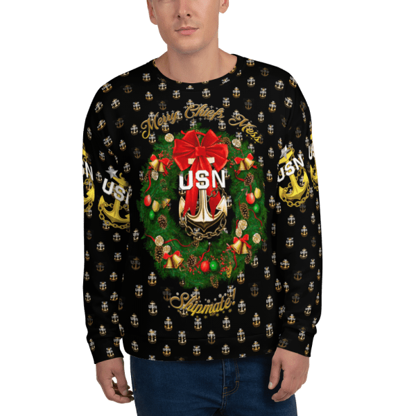 Navy chief ugly sweater sweatshirt, ugly sweater, chief sweater, holiday party, chief apparel, navy chief, navy pride, navy chief navy pride,