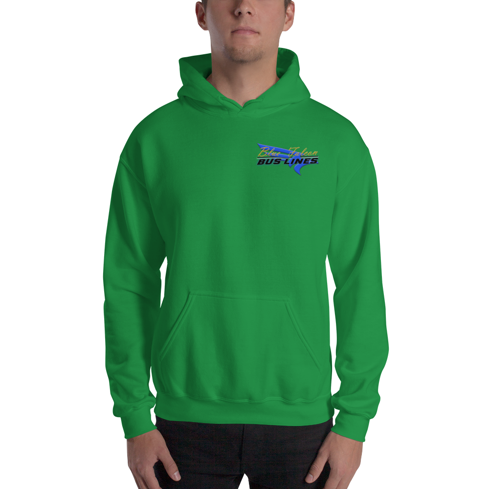 Hooded Sweatshirt | Blue Falcon Bus Lines | Pitch and Rudder